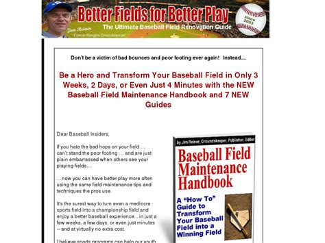 [click]a  How To  Guide To Transforming Your Baseball Field Into .