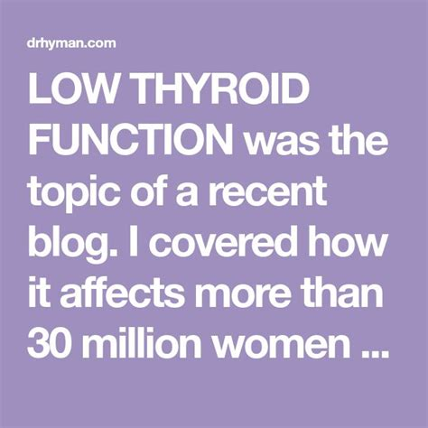 A 7-Step Plan To Boost Your Low Thyroid And Metabolism - Dr. Mark.