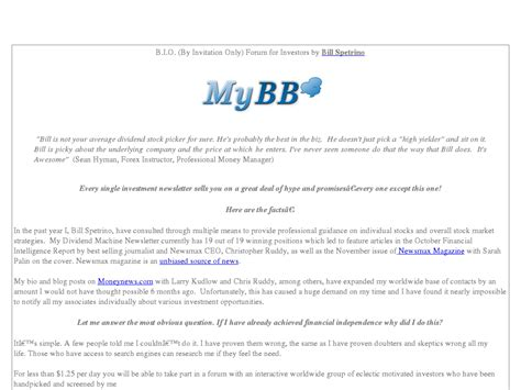 [click]a Forum For Investors Traders - Bio Forum By Bill Spetrino.