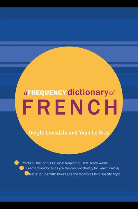 [pdf] A Frequency Dictionary Of French Core Vocabulary For .