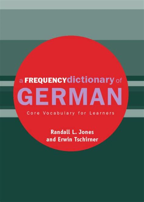 [pdf] A Frequency Dictionary Of German Core Vocabulary For .