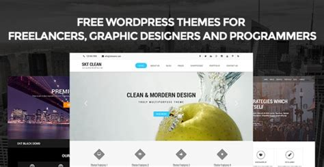 [click]a List Of Free Wordpress Themes For Freelancers Graphic .