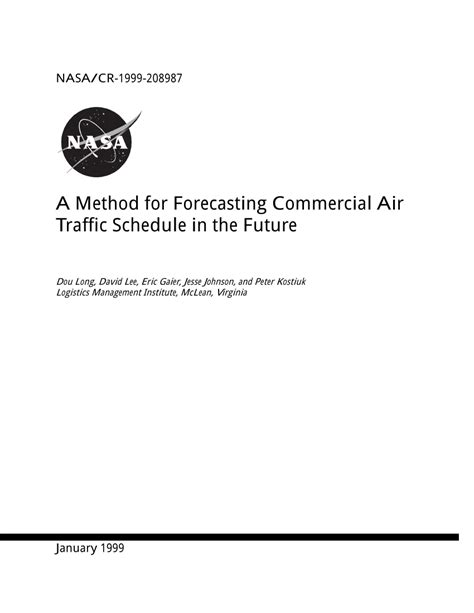 [pdf] A Method For Forecasting Commercial Air Traffic Schedule .