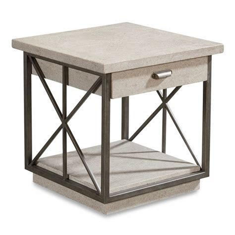 A R T Arch Salvage Mist Burton End Table - Arch Salvage .