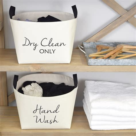A Southern Bucket Hand Wash Laundry Basket Natural Canvas .