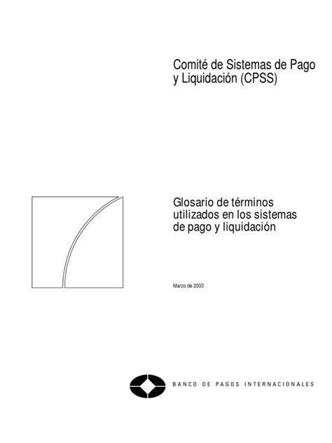 [pdf] A Glossary Of Terms Used In Payments And Settlement Systems.