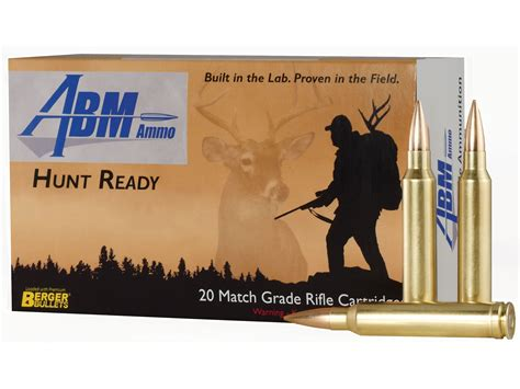 Abm Ammo Hunt Ready Ammo 300 Win Mag 168gr Berger Classic .