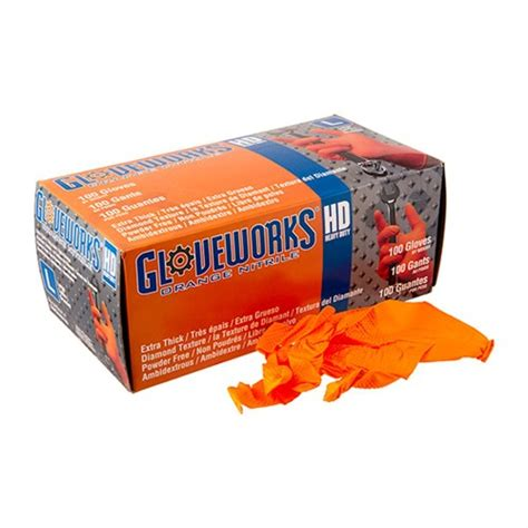 Ammex Corp Orange Nitrile Hd Gloves Brownells.