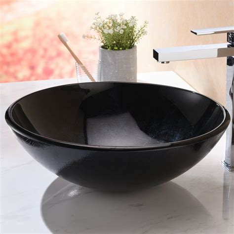 Anzzi Chrona Glass Circular Vessel Bathroom Sink  Wayfair.