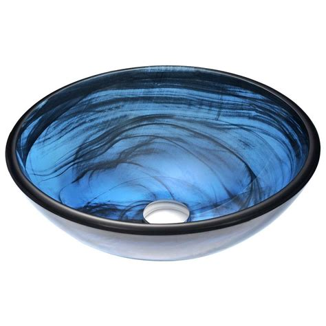 Anzzi Soave Series Deco-Glass Vessel Sink  - The Home Depot.
