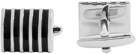 Apex Enamel Striped Cufflinks Black Your Extra Price .