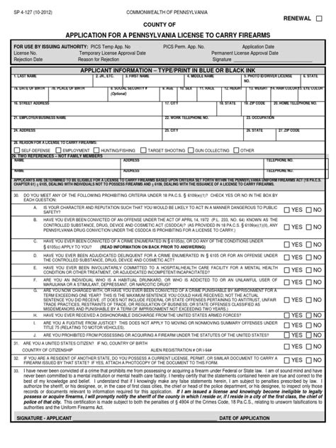 [pdf] Application For A Pennsylvania License To Carry Firearms.