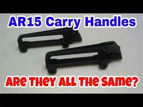 Ar-15 Detachable Carry Handle Quality - Is There A Difference.