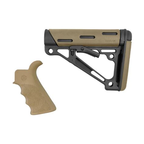 Ar-15 Finger Groover Grip W Collipsible Mil-Spec Buttstock .