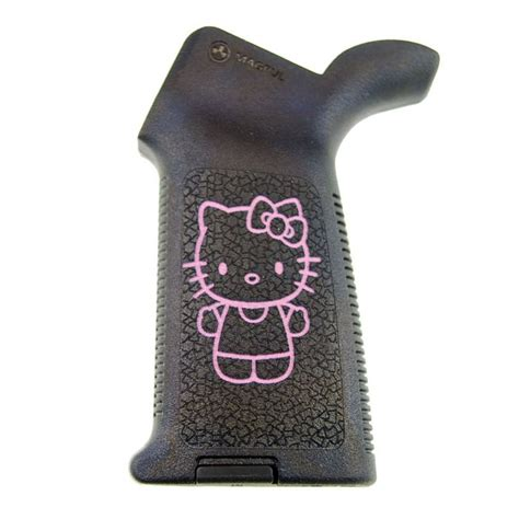 Ar-15 M4 Magpul Moe Grip - Pink - Hello Kitty Full Body.