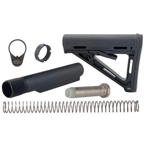 Ar-15 Stock Assy Collapsible Mil-Spec Blk - Brownells Es.