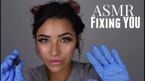[click]asmr Fixing You Whispered Roleplay Gloves Sounds Face Brushing Scratching Sounds And  .