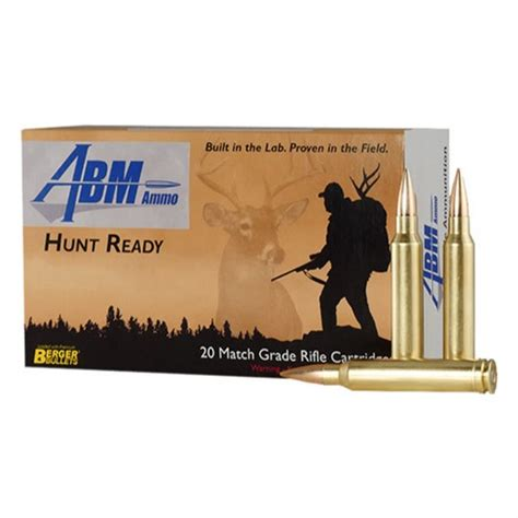 Abm Hunt Ready 300 Win Mag 168gr Berger Match Classic Hunter.