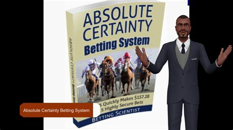 Absolute Certainty Betting System Review - Youtube.