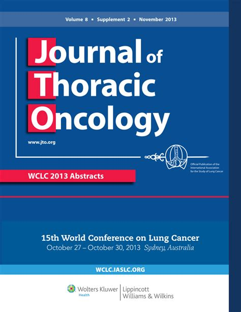 Abstracts - Journal Of Thoracic Oncology.