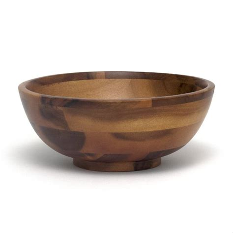 Acacia Footed Round Flared Bowls  Lipper International Bowls.