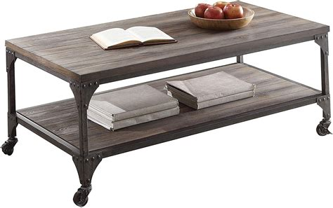 Acme Furniture 81445 Gorden Coffee Table Weathered Oak .