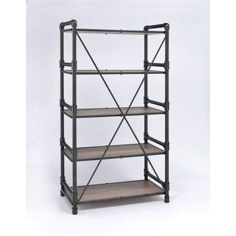 Acme Furniture Caitlin 92220 Bookshelf Rustic Oak  Black.