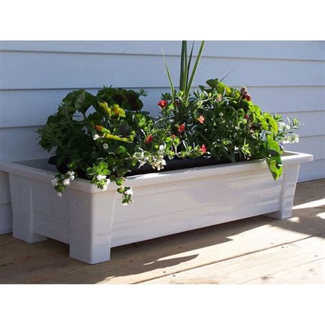 Adams 9302-48-3700 36 White Deck Planter - Ebay Com.