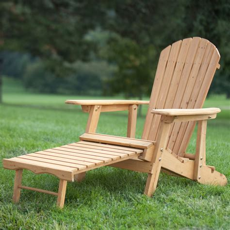 Adirondack Chairs With Pull Out Footrest