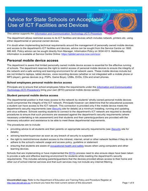[pdf] Advice For State Schools On Acceptable Use Of Ict .
