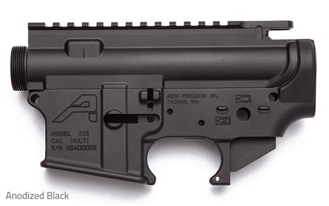 Aero Precision Ar15 Stripped Receiver Set - Anodized Black .
