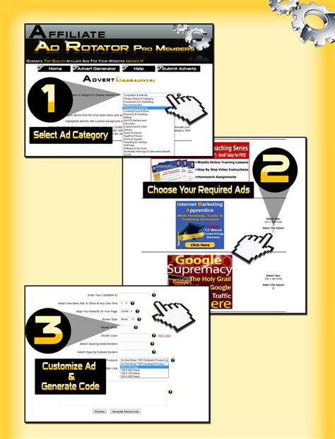 Affiliate Ad Rotator - Your On-Line Income For Life.