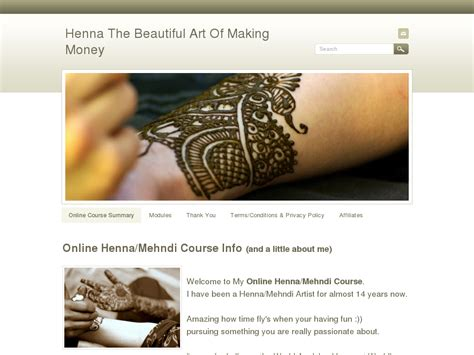 [click]affiliates - Henna The Beautiful Art Of Making Money.