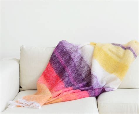 African Bright Stripes Mohair Blanket By Scaapi Featured .