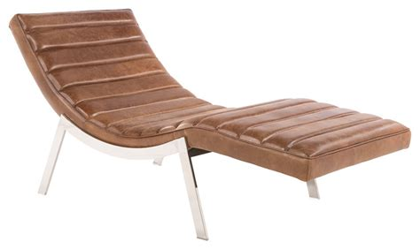 Alberta Chaise - Septa Brown   Rustic Edge.