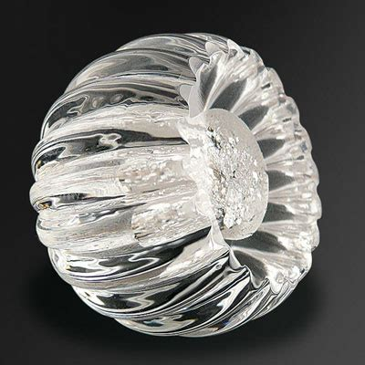 Alberto Fluted Knob - Silver - Mother Of Pearl And Sons .