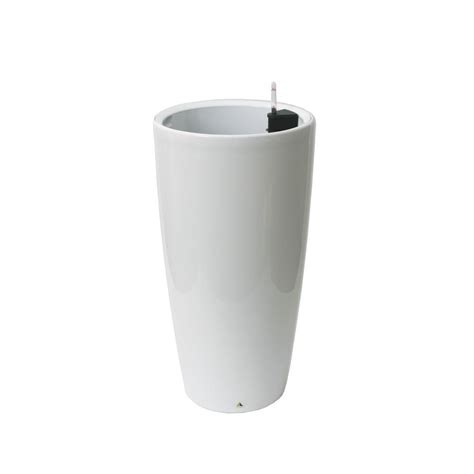 Algreen Modena 30 In White Round Self-Watering Plastic .