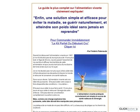 [click]alimentation Crue Raw Food Diet In French.