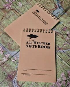 All Weather Notebook Militaria  Ebay.