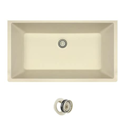 All-In-One Undermount Quartz 32 625 In 0-Hole Single Bowl .