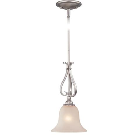Amazing Deal On Signature 1 Light Mini Pendant In White.