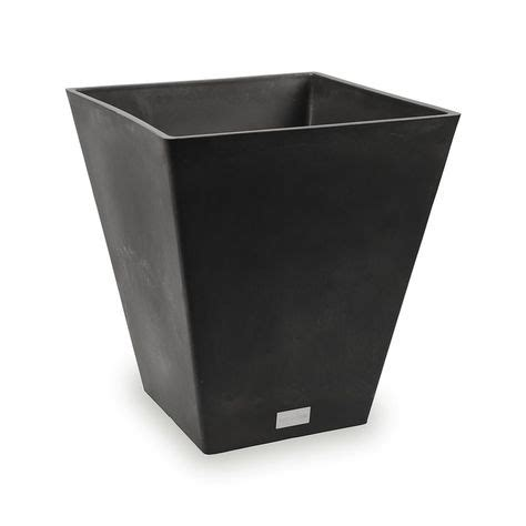 Amazing Deals On Nobleton Square Planter Black - Bhg Com.