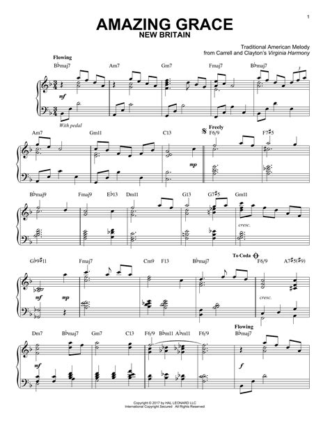 [pdf] Amazing Grace  Partition Pour Piano.