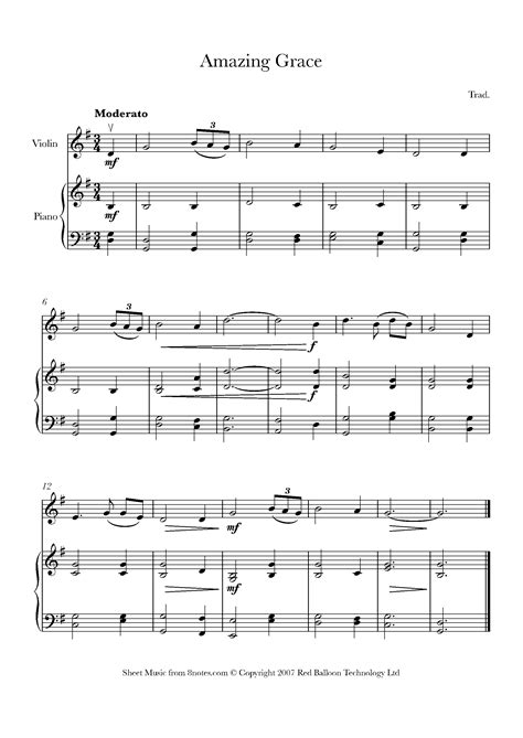 @ Amazing Grace Sheet Music For Piano - 8notes Com.