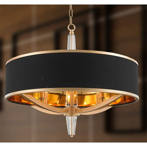 Amazing Spring Deals Suntin 4-Light Black Chandelier .