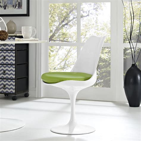Amazon Com - Lippa Dining Vinyl Side Chair In White - Chairs.