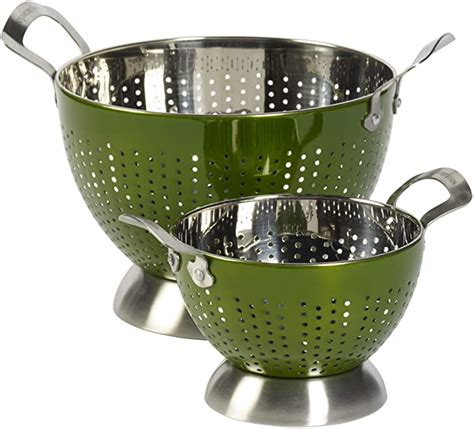 Amazon Com 2 Piece Stainless Steel Colander Set Color .