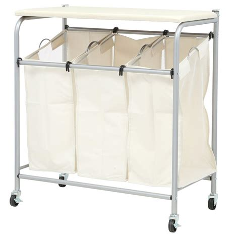 Amazon Com Honey-Can-Do Rolling Laundry Sorter With .
