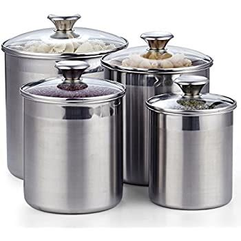 Amazon Com Old Dutch 1843 Canister Set Of 4 4 Quart 2 .