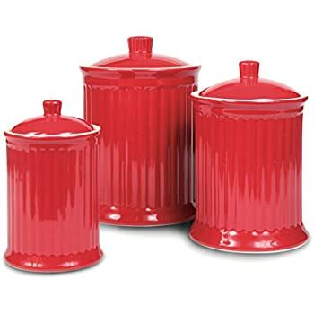 Amazon Com Omni Simsbury Canisters - Set Of 3 - Home .